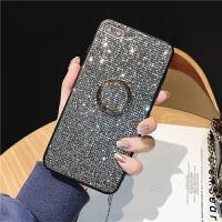 苹果7plus手机壳iphone8套6s女8P新款6网红闪粉亮片指环扣亮晶晶奢华潮女镶钻带钻闪闪指环