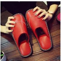 (全皮)棉拖鞋厚底防滑耐磨皮棉拖鞋牛筋底皮拖鞋保暖防水