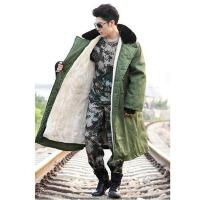 棉服 男女军训服 军大衣棉大衣男女长款加厚黄大衣可拆洗保暖抗寒防寒服