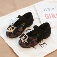 2019新款春季女童皮鞋宝宝软底豹纹鞋5小公主单鞋1-2-3-6岁女童鞋