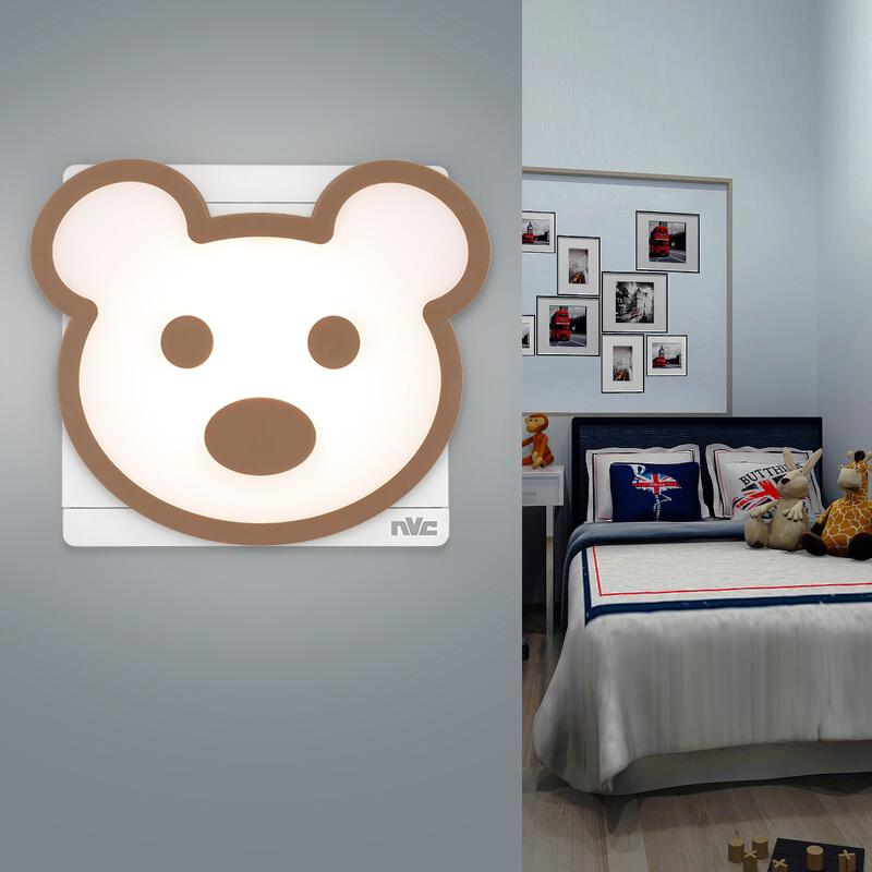 雷士(NVC)小夜灯LED光控灯儿童床头灯卧室迷你宝宝婴儿喂奶小夜灯
