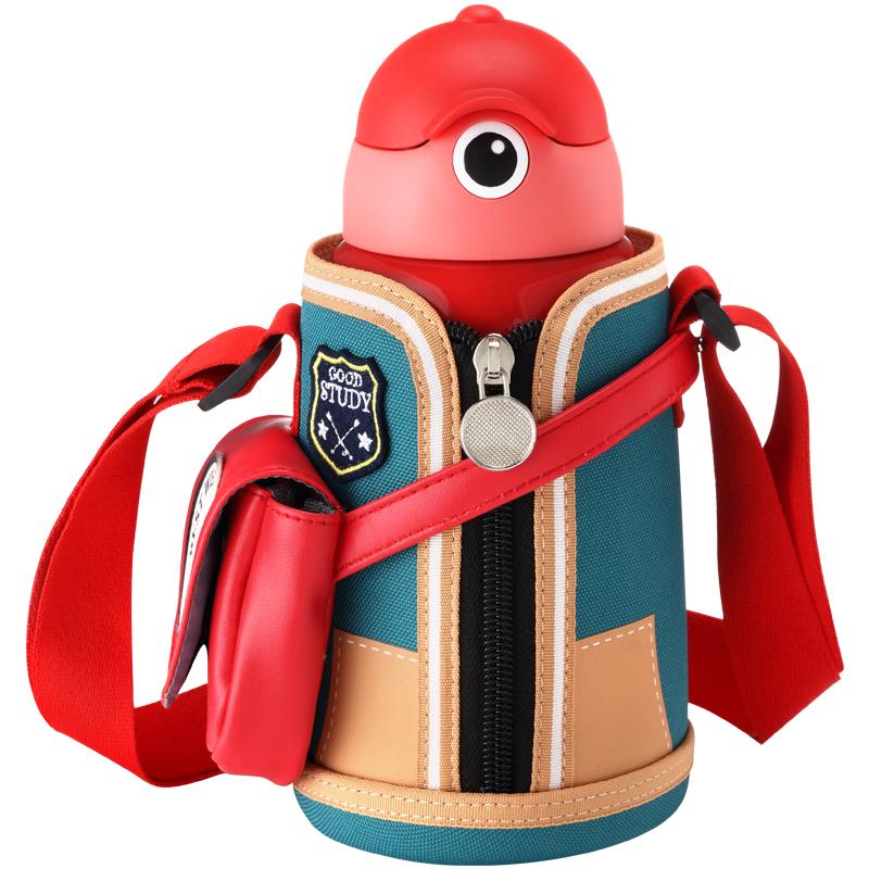 保温杯儿童带吸管两用男女宝宝水壶小学生水杯便携防摔幼儿园 l