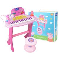 【满100立减50】贝芬乐 小猪佩奇玩具儿童电子琴话筒音乐宝宝玩具小钢琴 小猪佩奇电子琴
