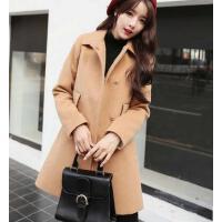 日韩西装 外套女 新款韩版修身毛呢外套女装学生学院风加厚呢子大衣