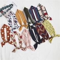 小丝巾女窄长条小领巾春秋装饰围巾文艺头巾发带
