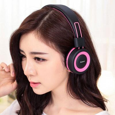 手机音乐耳机带话筒单孔笔记本电脑头戴式耳麦重低音线控可折叠