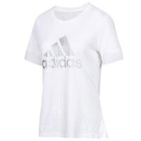 Adidas阿迪�_斯女�b�\�有蓍e透��A�I短袖上衣T恤衫DY8612