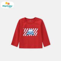 【2件4.5折】马卡乐童装2020年春季新款男宝宝长袖T恤男童赛车印花