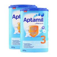 保税区直发 德国Aptamil爱他美婴幼儿配方奶粉3段(10-12个月 800g)两罐装