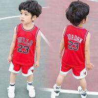 儿童篮球服套装夏季男童运动球衣小学生男孩库里夏装幼儿园演出服
