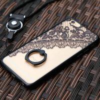 倍思iPhone6手机壳苹果6s蕾丝plus防摔套挂绳硅胶指环潮女款六4.7