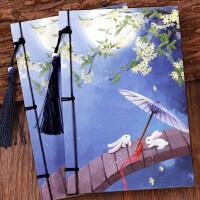 紫夜古风复古创意线装记事本日记本 中国风古典文具学生 笔记本子