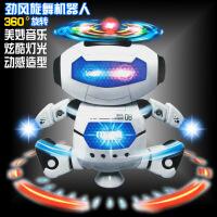 新款太空跳舞电动机器人 360度旋转灯光音乐