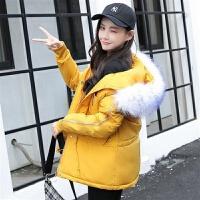 棉衣女短款2019冬季外套女学生面包服bf派克棉袄 M 80至105斤