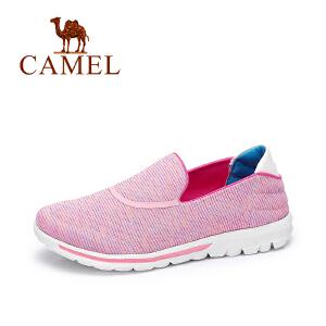 camel骆驼女鞋  春夏季新款 健步鞋 时尚条纹套脚运动鞋百搭休闲单鞋