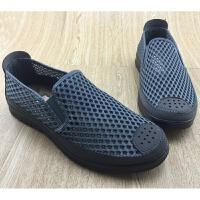 莫戈里老北京布鞋男鞋上班夏季网面开车软底透气工作一脚蹬懒人网鞋