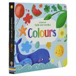 Usborne Fold-out Books Colours 幼儿颜色认知 折叠式纸板书 英语启蒙早教图书 儿童英文原