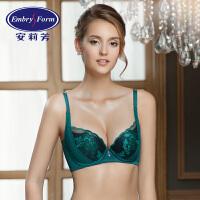 安莉芳性感蕾丝刺绣调整型大胸薄款聚拢文胸罩内衣EB1203