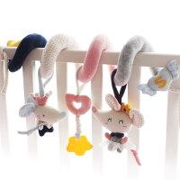 婴儿毛绒布艺床绕鼠年宝宝床挂车挂新生儿摇铃安抚玩具