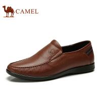 骆驼牌男鞋 春新款 男士真皮商务休闲皮鞋乐福鞋软底青年小皮鞋子