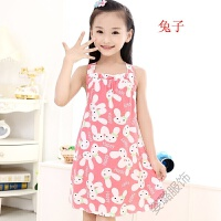 夏季�和�吊��睡裙薄款睡衣小女孩�B衣裙可���松公主裙女童家居服仙女睡裙