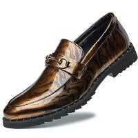 品牌皮鞋男韩版潮流百搭亮面男鞋子英伦休闲男士尖头小皮鞋发型师潮鞋
