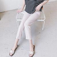 孕妇裤子夏季薄款七分打底裤2018新款大码外穿春夏装夏天宽松托腹