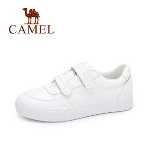 Camel/骆驼女鞋秋季新品时尚乐福鞋 简约魔术贴单鞋百搭舒适小白鞋