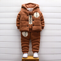男童装秋冬款三件套装婴儿童卫衣女宝宝冬装外套潮