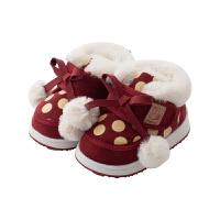 宝宝棉鞋女童1-3岁儿童外穿鞋男童保暖毛毛鞋
