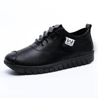 妈妈鞋韩版百搭运动休闲鞋春季新款女士皮鞋软底开车鞋大码鞋
