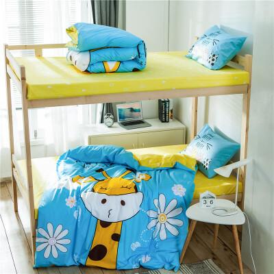 全棉大版印花三件套 全棉卡通大版花三件套 单人儿童床品学生套件  1.2米床