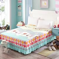 御目 床裙 韩式纯棉床单1.2米1.5m1.8m2m儿童床品单件床套床笠全棉床罩家居床上用品