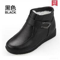 中年中老年女鞋妈妈鞋棉鞋真皮短靴羊毛大码保暖加厚冬季老人