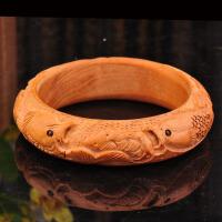 桃木手镯女款手环手工雕刻木质雕花手镯情侣镯子民族风