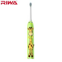 【苏宁易购】雷瓦(RIWA) RG-1002儿童牙刷卡通可爱造型声波电动牙刷 绿色