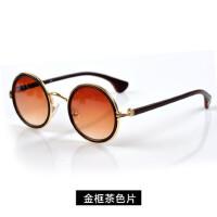 复古太阳镜圆脸太子镜 墨镜眼镜男女时尚个性小圆镜潮