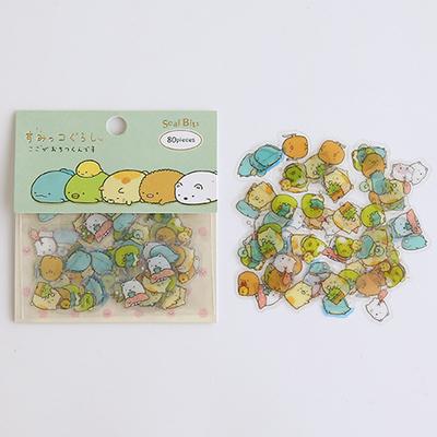 韩国创意可爱呆萌动物卡通手帐手账贴纸 装饰小贴画 卡通动物贴纸包