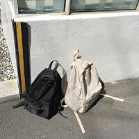 潮流纯色双肩包书包休闲包学院风女包韩国百搭学生背包