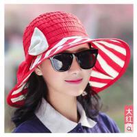 女帽子遮阳帽优雅太阳帽防晒韩版大沿沙滩帽防紫外线户外凉帽