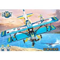 积木拼装玩具益智组装直升飞机系列男童礼物