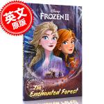 预售 冰雪奇缘2 魔法森林 暗影森林 儿童小说 迪斯尼同名电影改编 英文原版 The Enchanted Forest