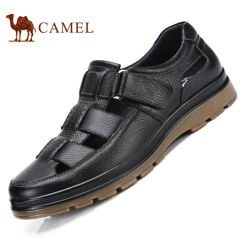 骆驼牌男凉鞋 新品舒适牛皮男凉鞋便捷耐磨休闲鞋男