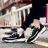 【满100减60】奇安达女款熊猫鞋 女士秋冬季经典黑白跑步鞋休闲增高鞋