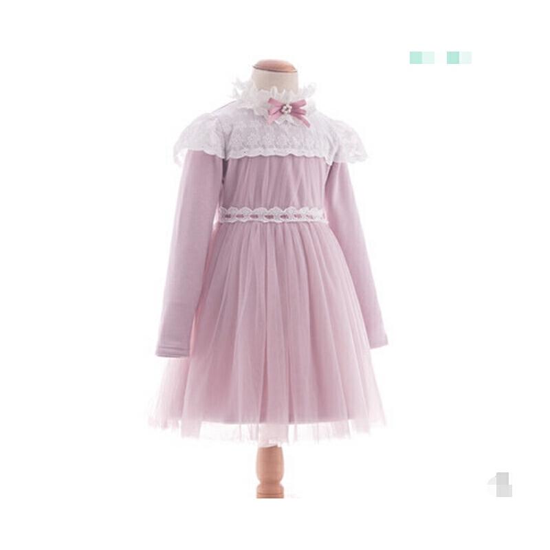 女童连衣裙秋冬儿童裙子韩版刺绣宝宝公主裙