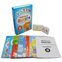 【抢300减100】Midisaurus English 3 米迪英语学生包 7册附字卡+5教学海报+音乐书 Mc G