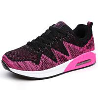 JSW 女款气垫跑步鞋飞织休闲鞋女运动鞋