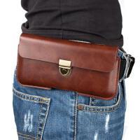 iPhone5SE腰带手机壳8P挂腰包7plus穿皮带超薄保护套6s皮套男小包 4.7寸 黑色
