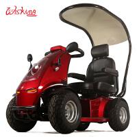 威之群4032电动代步车四轮带蓬双人座椅电瓶助力休闲车