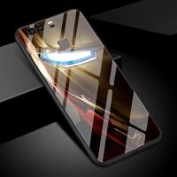 钢铁侠手机壳华为p9男女新款钢化玻璃个性创意漫威电影队长黑寡妇欧美潮p9plus保护套